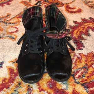 Sam Edelman Bleecker Lace Up Calf Hair Booties
